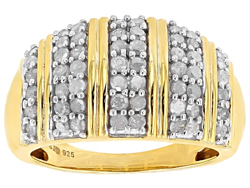 Photo of Engild™ .95ctw Round White Diamond 14k Yellow Gold Over Sterling Silver Ring - Size 4