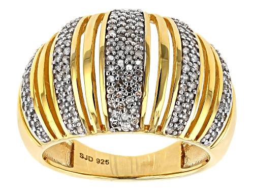 Photo of ENGILD(TM) .50ctw White Diamond 14k Yellow Gold over Sterling Silver Ring - Size 7