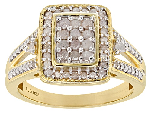 Photo of Engild™ .50ctw Round White Diamond 14k Yellow Gold Over Sterling Silver Ring - Size 5