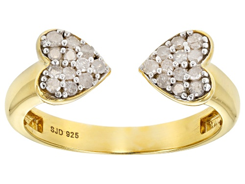 Photo of Engild™ 0.30ctw Round White Diamond 14k Yellow Gold Over Sterling Silver Ring - Size 9