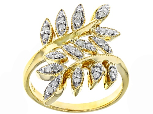 Photo of Engild™ 0.25ctw Round White Diamond 14K Yellow Gold Over Sterling Silver Ring - Size 6