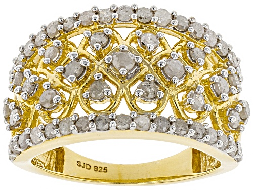 Photo of Engild(TM) 1.30ctw Round White Diamond 14k Yellow Gold Over Sterling Silver Ring - Size 7
