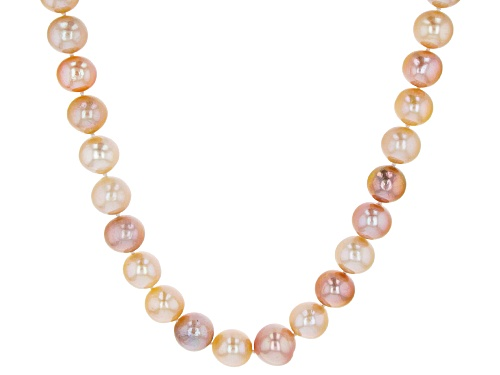 Photo of Genusis Pearls™ 11-14mm Multi-Color Cultured Freshwater Pearl Rhodium Over Silver Strand Necklace - Size 20