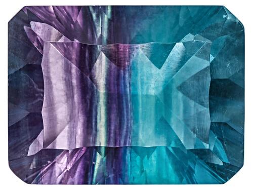 Photo of Chinese Bi-Color Fluorite Minimum 26.00ct 20x15mm Rectangular Octagonal Cut
