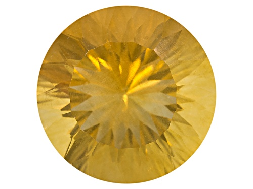 Photo of Kadenze™ collection yellow fluorite min 9.00ct 14mm round Quantum cut®