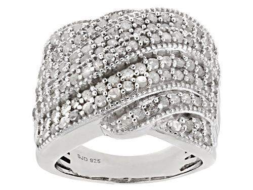 Photo of 2.00ctw Round White Diamond Rhodium over Sterling Silver Ring - Size 6