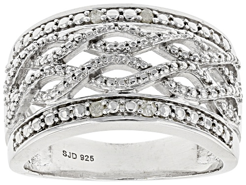 Photo of Diamond Accent Round White Diamond Rhodium Over Sterling Silver Ring - Size 7