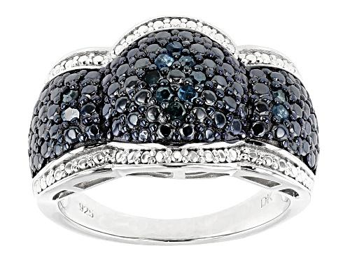 Photo of .18ctw Round Blue Velvet Diamond™ Rhodium over Sterling Silver Ring - Size 6