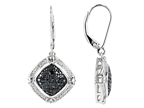 Photo of .50ctw Round & Baguette Diamond Rhodium Over Sterling Silver Pendant With Chain