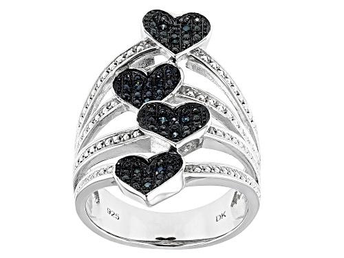 Photo of Diamond Accent Round Blue Velvet Diamond™ Rhodium over Sterling Silver Ring - Size 6