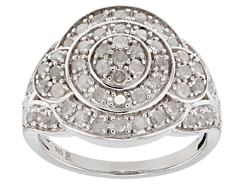 Photo of 1.00ctw Round White Diamond Rhodium over Sterling Silver Ring - Size 7