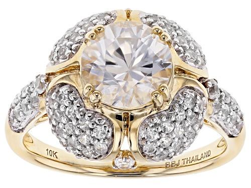 Photo of 3.50ctw Round White Zircon 10k Yellow Gold Ring - Size 8