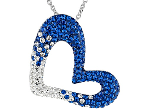 Photo of Preciosa Crystal Blue And White Heart Pendant With Chain
