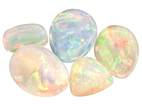 Photo of Parcel of Ethiopian opal 15.00ctw mixed shapes and sizes cabochon