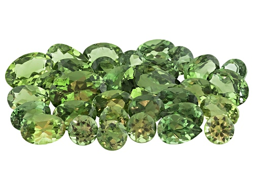 Photo of Untreated Madagascan Green Apatite Parcel Of 15.00ctw Mm Varies Mixed Shape