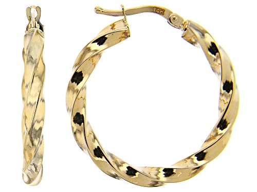 Photo of Splendido Oro™ 14K Yellow Gold 4.84MM Twisted Hoop Earrings