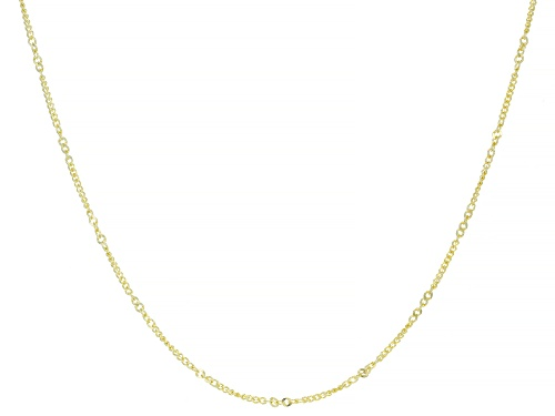 Photo of Splendido Oro™ 14K Yellow Gold 1.60MM Curb 18 Inch Chain Necklace - Size 18