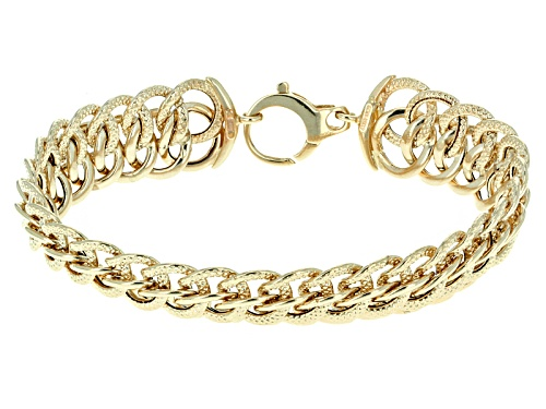 Photo of Splendido Oro™ 14k Yellow Gold Grande Infinity 7 1/2 Inch Bracelet - Size 7.5