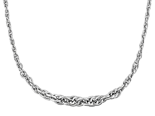 Photo of Splendido Oro™ 14k White Gold Graduated Toscano Torchon 18 Inch Necklace - Size 18