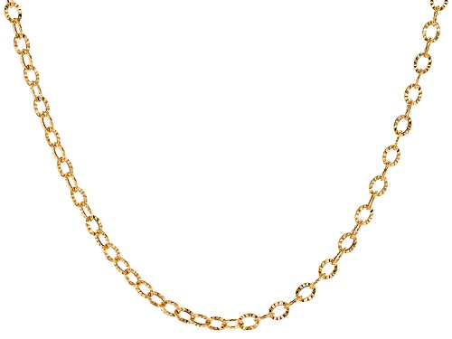 Photo of Splendido Oro™ 14k Yellow Gold 4mm Sole Link 18 Inch Chain Necklace Min 2 Gram Weight - Size 18