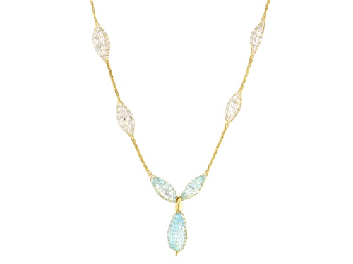 Splendido Oro™ Crochet D'Tuscano™ 12.25ctw Bella Luce® 14k Yellow Gold 18 Inch Necklace - Size 18