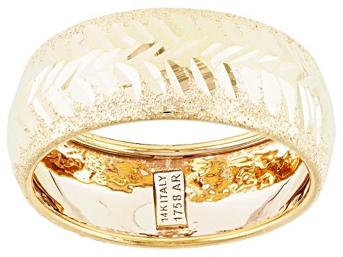 Photo of Splendido Oro™ 14k Yellow Gold Diamond Cut Freccia Band Ring - Size 7