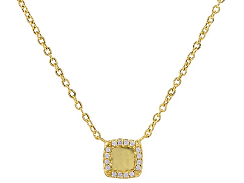 Photo of Splendido Oro™ 14k Yellow Gold Bella Luce ® Diamond Simulant Preziosa Cornice Necklace - Size 18