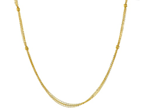 Photo of Splendido Oro™ 14k Yellow Gold Multistrand Elegance 24 Inch Necklace - Size 24