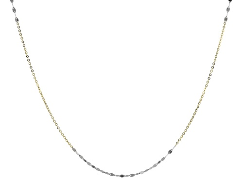 Photo of Splendido Oro™ 14k Yellow Gold With Rhodium Over 14k Yellow Gold Lucciola 18 Inch Necklace - Size 18