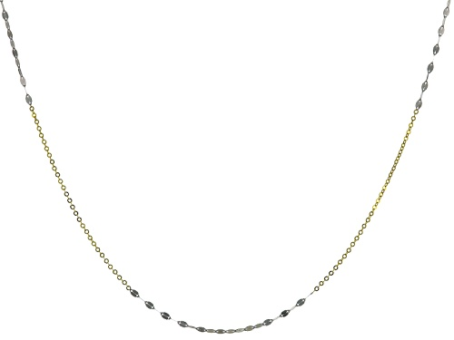 Photo of Splendido Oro™ 14k Yellow Gold With Rhodium Over Yellow Gold Lucciola 24 Inch Necklace - Size 24