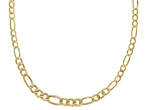 Photo of Splendido Oro™ 14k Yellow Gold Graduated Figaro 20 Inch Necklace - Size 20