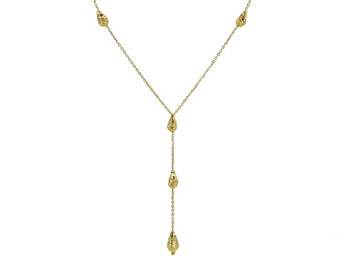 Photo of Splendido Oro™ 14k Yellow Gold Diamond Cut Bead Drop 18 Inch Plus 2 Inch Extender Necklace - Size 18