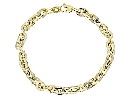 Photo of Splendido Oro™ 14k Yellow Gold Flat Rolo 8 Inch Bracelet - Size 8