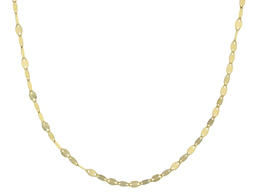 Photo of Splendido Oro™ 14k Yellow Gold Valentino 18 Inch Chain Necklace - Size 18