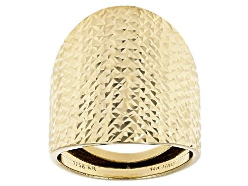 Photo of Splendido Oro™ 14k Yellow Gold Diamond Cut Bold Statement Ring - Size 7