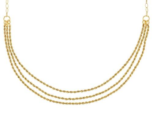 Photo of Splendido Oro™ 14k Yellow Gold Trittico Rope 20 Inch Necklace - Size 20