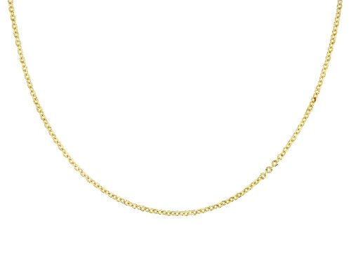 Photo of 14k Yellow Gold Glitter Rolo 18 Inch Chain Necklace - Size 18