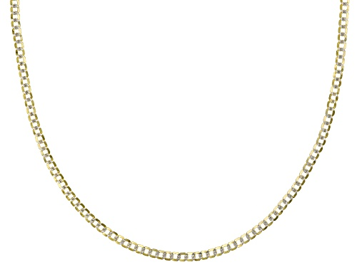 "Photo of Splendido Oro™ 14k Yellow Gold & Rhodium Over 14k Yellow Gold Reverso Grumette 24"" Chain Necklace - Size 24"