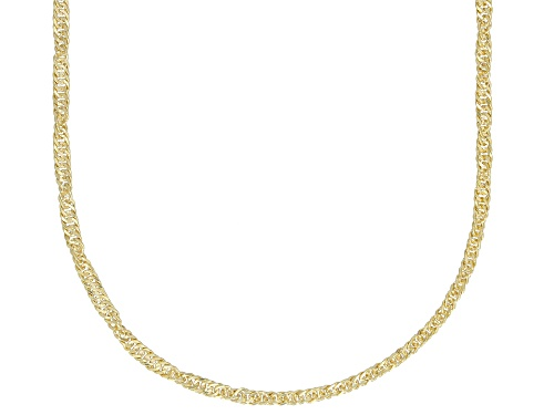 Photo of Splendido Oro™ Divino 14k Yellow Gold With a Sterling Silver Core Singapore 18 inch Chain Necklace
