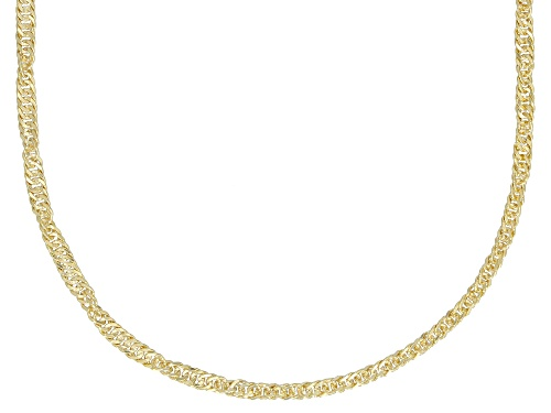 Photo of Splendido Oro™ Divino 14k Yellow Gold With a Sterling Silver Core Singapore 20 inch Chain Necklace