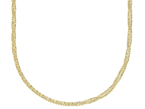 Photo of Splendido Oro™ Divino 14k Yellow Gold With a Sterling Silver Core Singapore 24 inch Chain Necklace