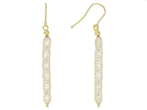 Photo of Splendido Oro™ Bella Luce ® Diamond Simulant 14K Yellow Gold Crochet Earrings