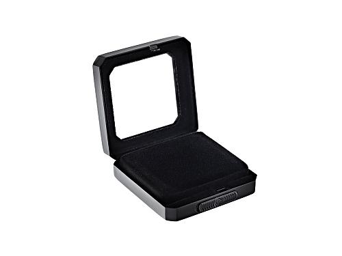 Photo of Gemstone Display Box Matte Black Finish 55 X 55 X 17mm With Reversible Black And White Cushion