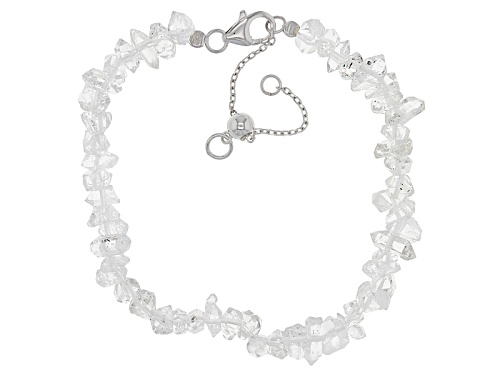 "Photo of Herkimer ""Diamond"" Quartz sterling silver bracelet - Size 7.25"
