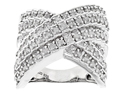 Photo of 1.00ctw Round White Diamond Rhodium Over Sterling Silver Ring - Size 6