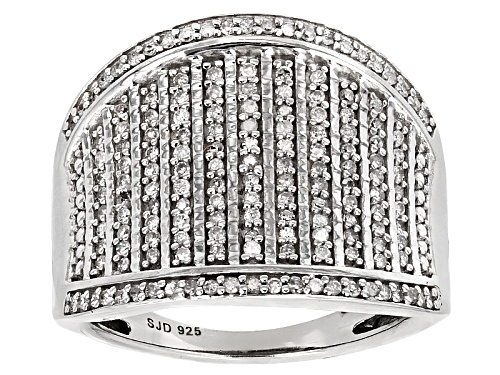 Photo of .45ctw Round White Diamond Rhodium Over Sterling Silver Ring - Size 7