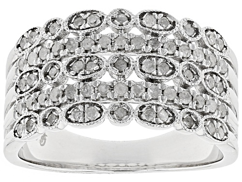 Photo of .50ctw Round White Diamond Rhodium Over Sterling Silver Ring - Size 8