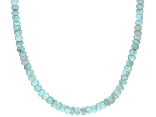 Photo of Artisan Gem Collection Of India™ Rondelle Larimar Sterling Silver Bead Necklace - Size 18
