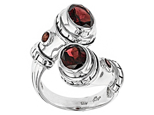 Photo of Artisan Gem Collection Of India, 4.25ctw Oval And Round Vermelho Garnet™ Silver Bypass Ring - Size 5