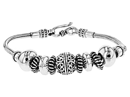 Photo of Artisan Gem Collection Of India™, Sterling Silver Graduated Station Bracelet - Size 8